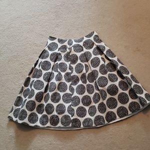 WHBM Black & White Skirt Sz 0